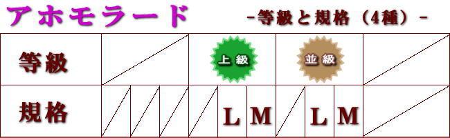 アホモラード規格等級表